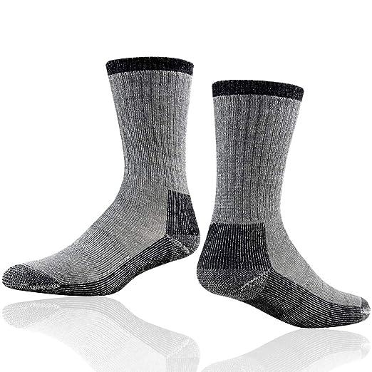 30e0c9ff41317 RTZAT Hiking Crew Socks, Men's Merino Wool Thick Cushioned Padded Crew  Outdoor Hiking Socks,