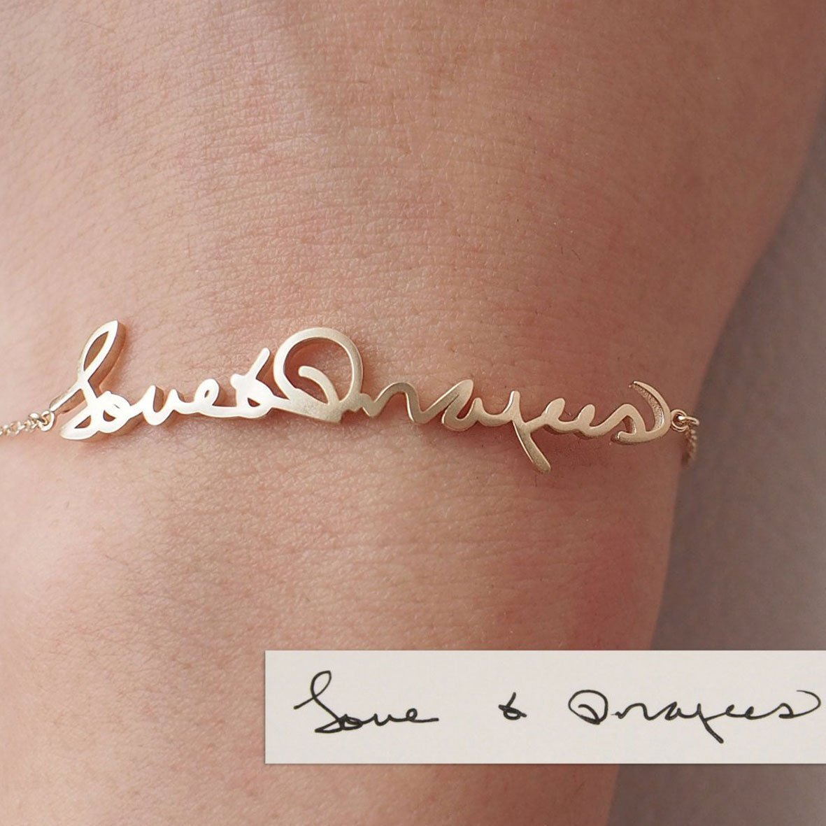 1aed57c283fbb GRACE PERSONALIZED | Actual Handwriting Bracelet | Personalized ...