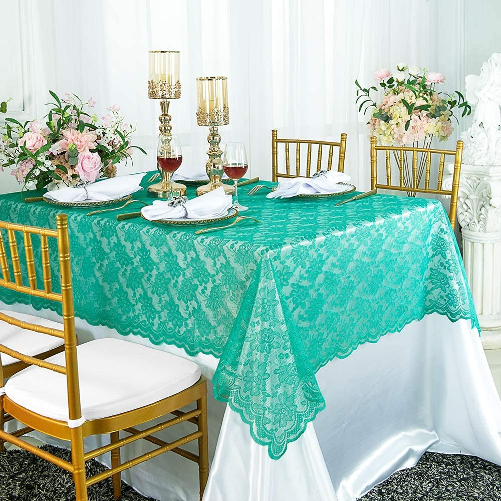 Regent Set of 4-54x108 Plastic Christmas//Holiday Tablecovers