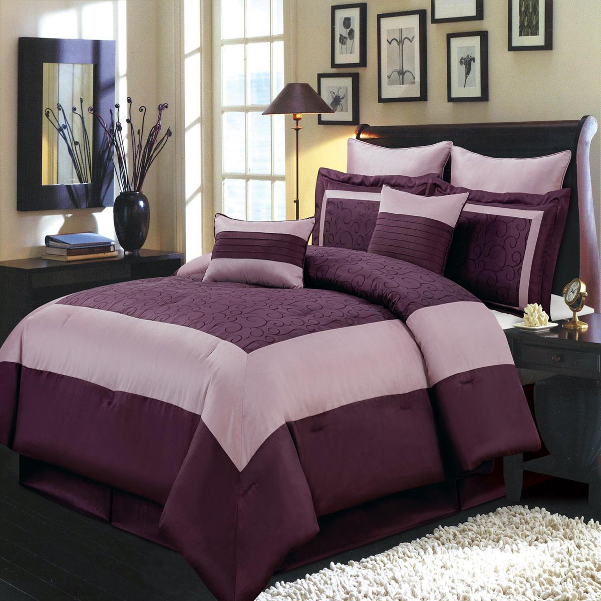 microfiber aetherair paisley queen sheet asli comforter bedding sets co butterfly l purple twin kids