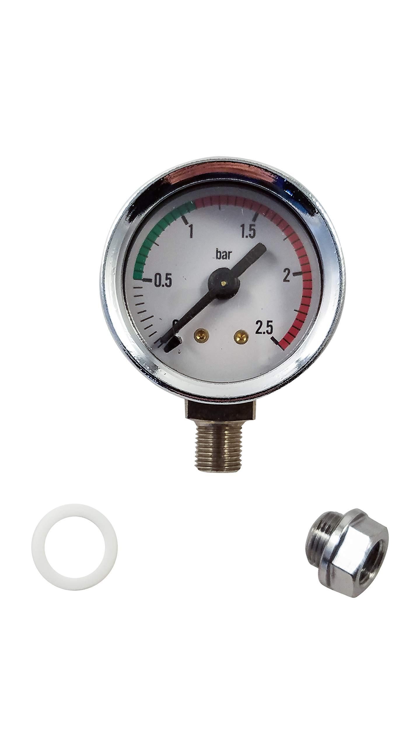 La Pavoni Espresso Machine Boiler Pressure Upgrade Kit - Chrome - For Lever Pre and Post Millennium Europiccola