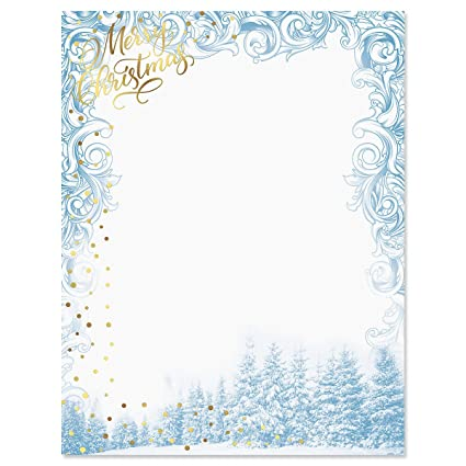photo regarding Printable Christmas Letter Paper called Luxurious Winter season Sparkle Xmas Letter Papers - Established of 25 Xmas stationery papers are 8 1/2\