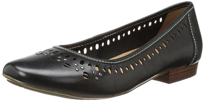 Clarks Women's Lockney Hot Flat, Black, 7.5 M US: Amazon.co.uk: Shoes & Bags