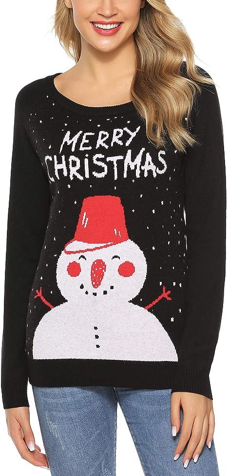 Regalo di maglioni di Natale lavorato a maglia a maniche lunghe per uomo*#