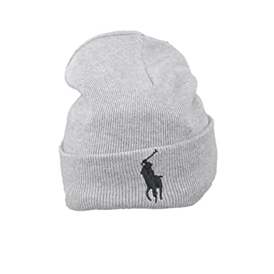 Bonnet Ralph Lauren gris pour homme  Amazon.fr  Vêtements et accessoires 6be25ef3ebd