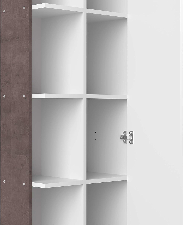 Grigio Symbiosis Click B13 Colonna Bagno Nobilitato 50 x 28.4 x 180 H Cm Bianco