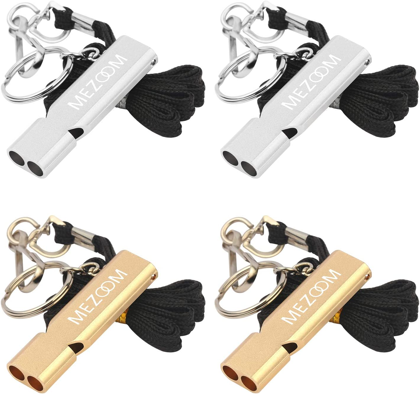 1pc 10mm brass EDC Emergency Safety Survival Whistle Keychain For Camping ToHFUK