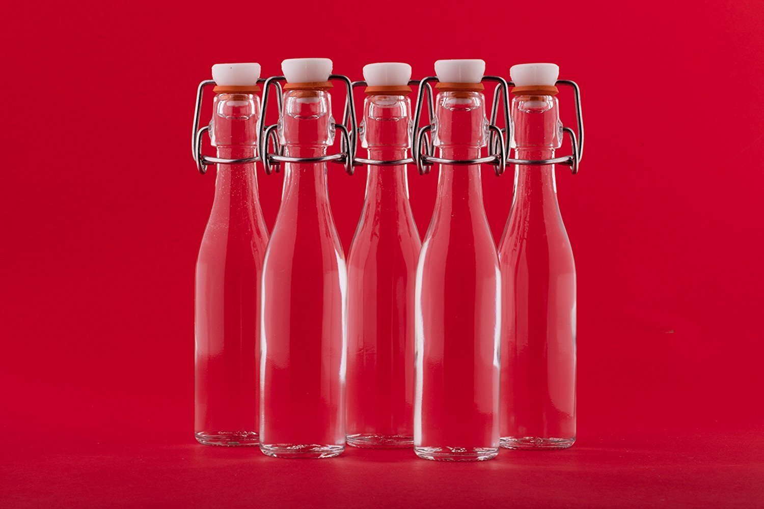 24 x 40 ml small Glass Bottles mini with Swing Tops Home Brew & Wine ...