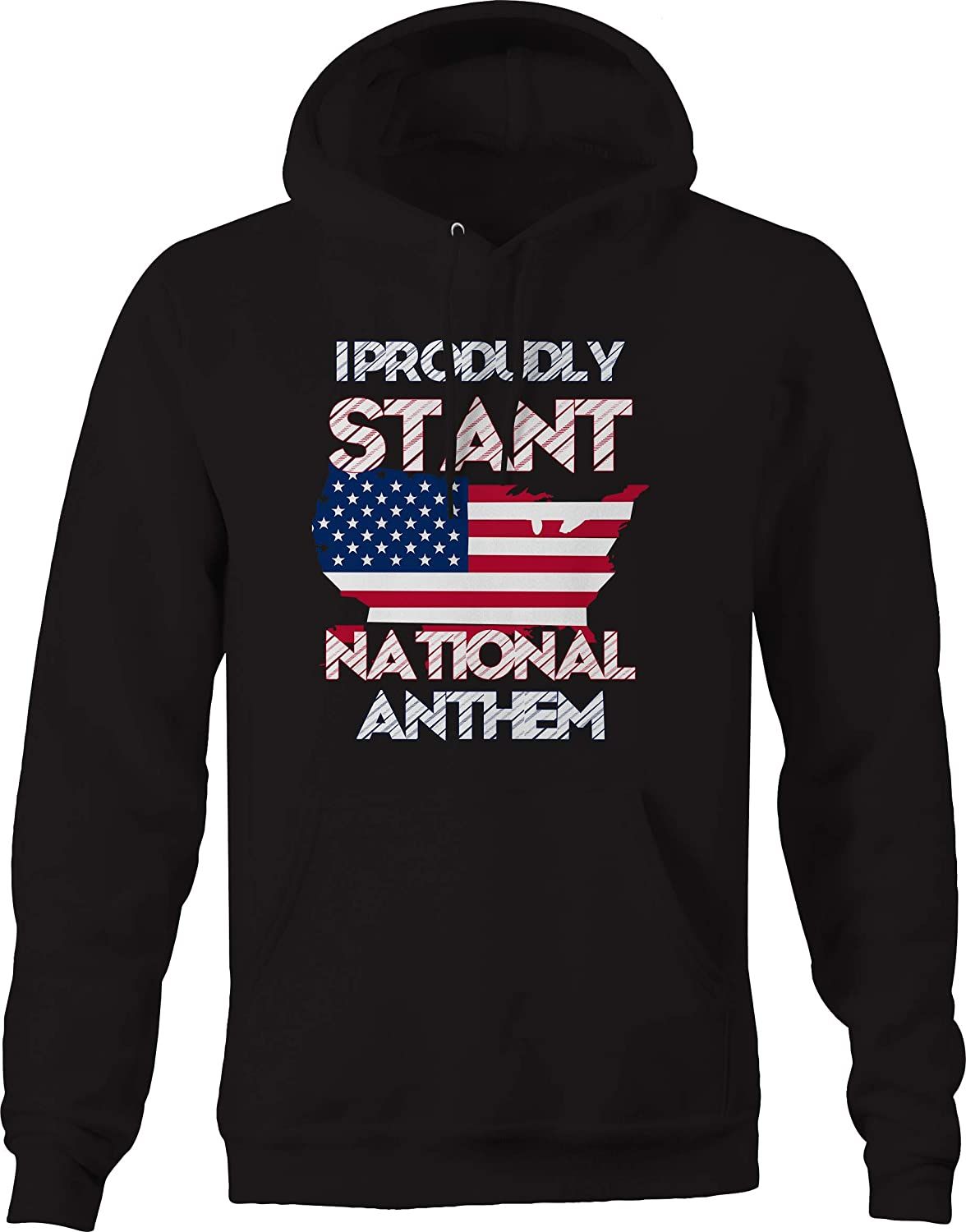 Proudly Stand for National Anthem American Flag Pledge USA Sweatshirt