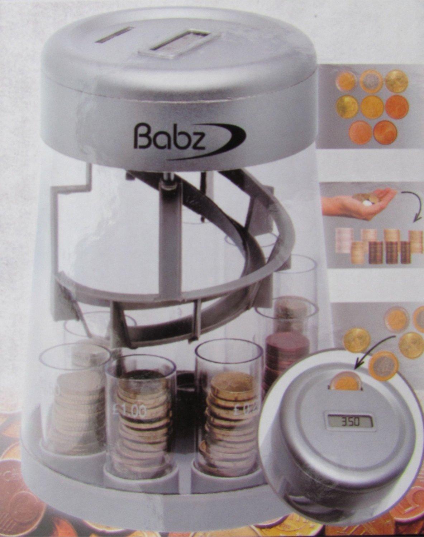 Babz Automatic Coin Counter & Sorter, LCD Display digitale, it denaro monete in lavatrice, nuovo Hamble