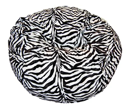 Swell Ahh Products Zebra Animal Print Fur Washable Large Bean Bag Chair Ocoug Best Dining Table And Chair Ideas Images Ocougorg
