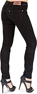 product image for Bullet Blues Chic Parisien Skinny Cigarette Black Women's Jeans Made in USA