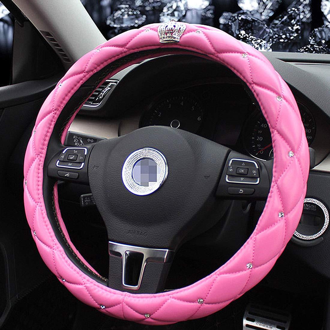 strass Queen s auto coprivolante con nobile corona elegante collezione accessori universale 38,1/cm//38/Cm squisito lattice design queen solo pelle morbida borsa elegante