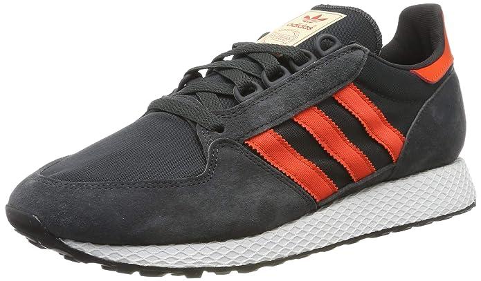 adidas Forest Grove Herren Schuhe schwarz (Carbon) mit orangen (Active Orange) Streifen