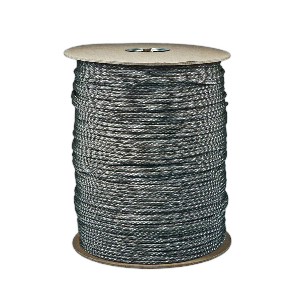 Paracord Planet Brand Nylon 550lb Type III Commercial Grade 7 Strand Paracord Made in USA 1000 Ft Spools (ACU Digital Foliage)