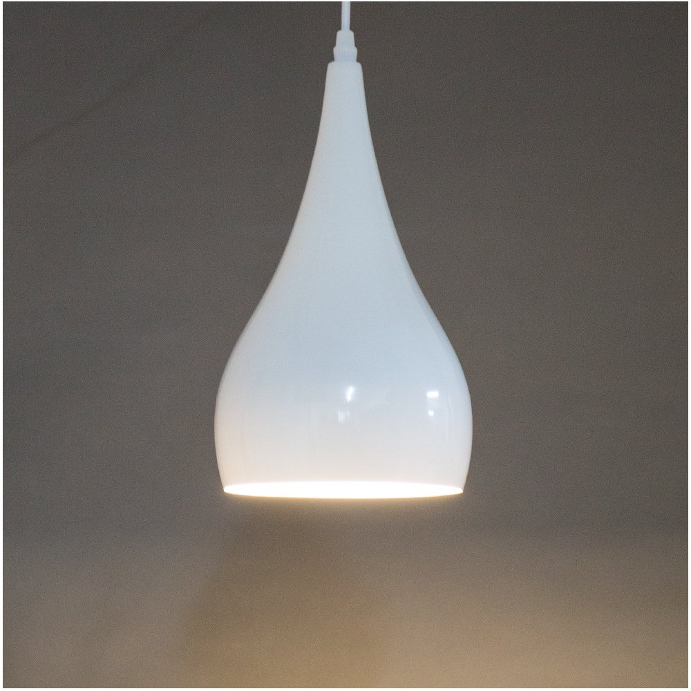 lighting hanging. Modern Industrial Pendant Light Design Ceiling Lighting E27 Base Fixture 1-Light, AC 100-240V White Metal Baking Finish: Amazon.co.uk: Kitchen \u0026 Home Hanging