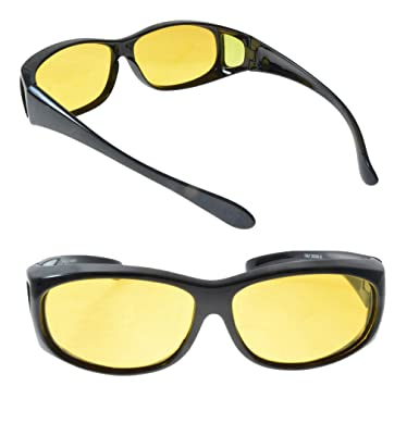 2bdc31be6e2d4 Polarized Sunglasses that Fit Over your Prescription Glasses Featuring HD  Night Driving Lens (2 Pair