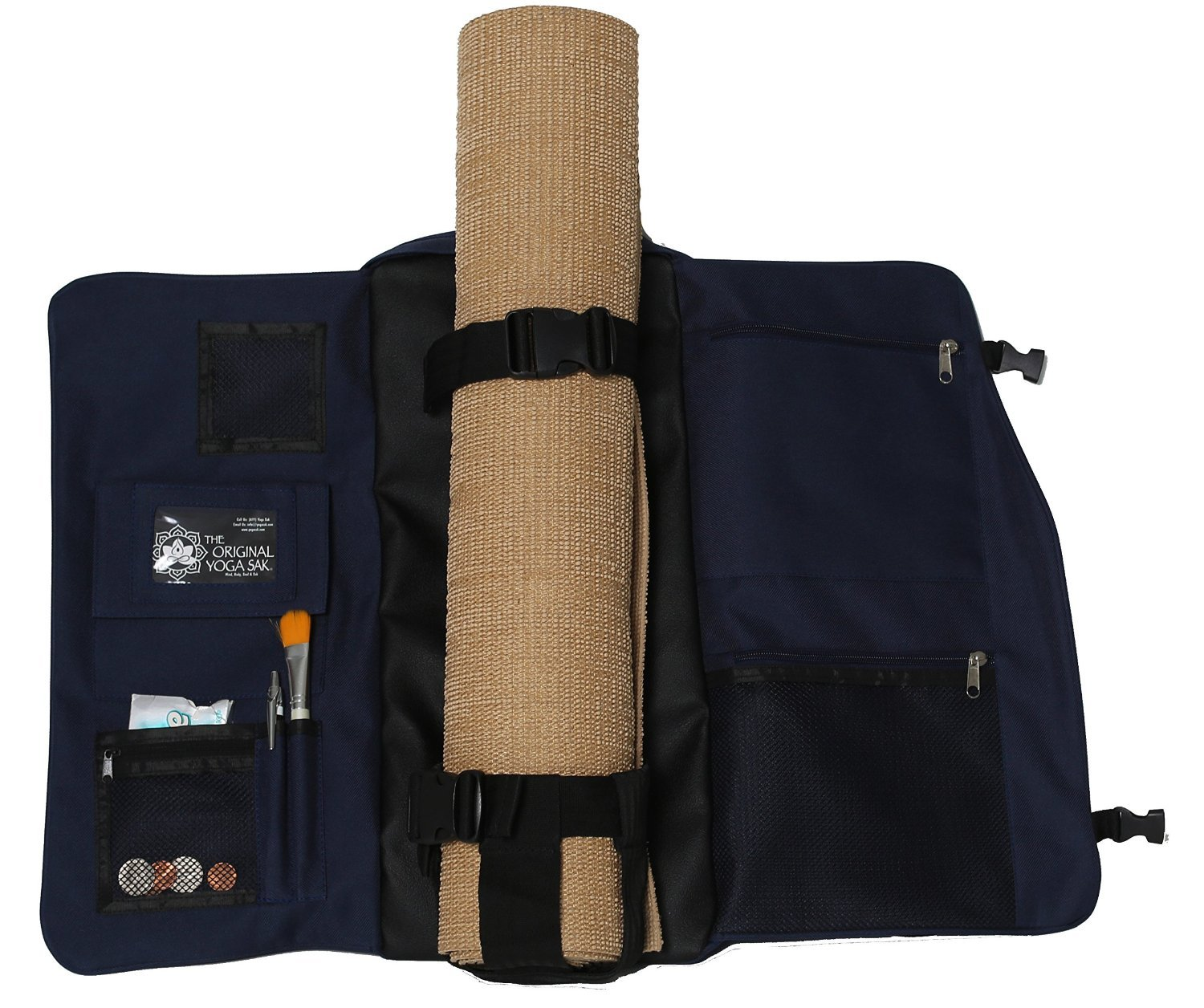 Yoga Sak - The Ultimate Sports / Multi Purpose Backpack - Great for Yoga, Hiking, Biking, School, and more - Navy