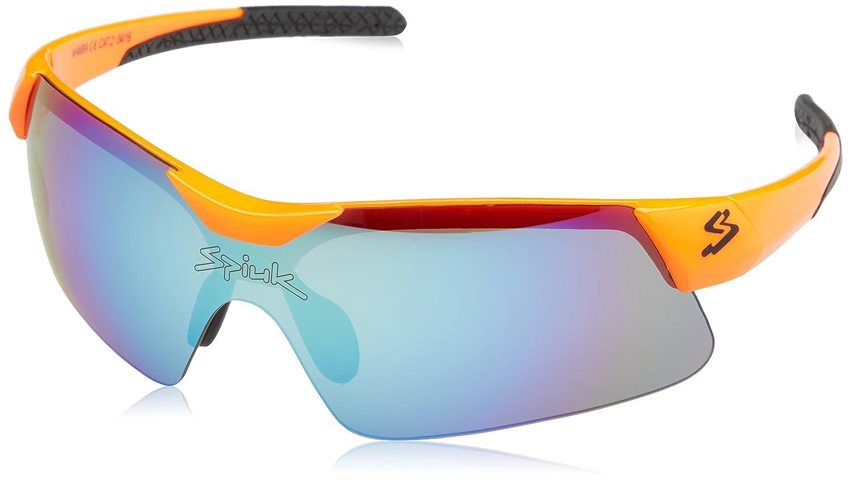 Spiuk Mamba Fahrrad Brille Unisex, Orange/Schwarz