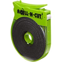 Small Parts Roll-N-Cut Dispenser with One Flexible Magnet Tape Role, 1/16-Inch Thick, 1/2-Inch Wide, 15-Feet Length (Pack of 1)