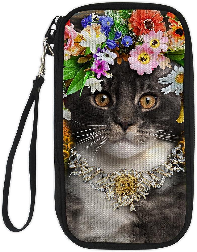 FOR U DESIGNS Cute Cat Passport Holder Travel Card Case Cover Travel Storage Wallet