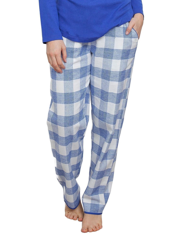TALLA 34. Cyberjammies 3878 Women's Elisa Blue Check Pajama Pyjama Pant