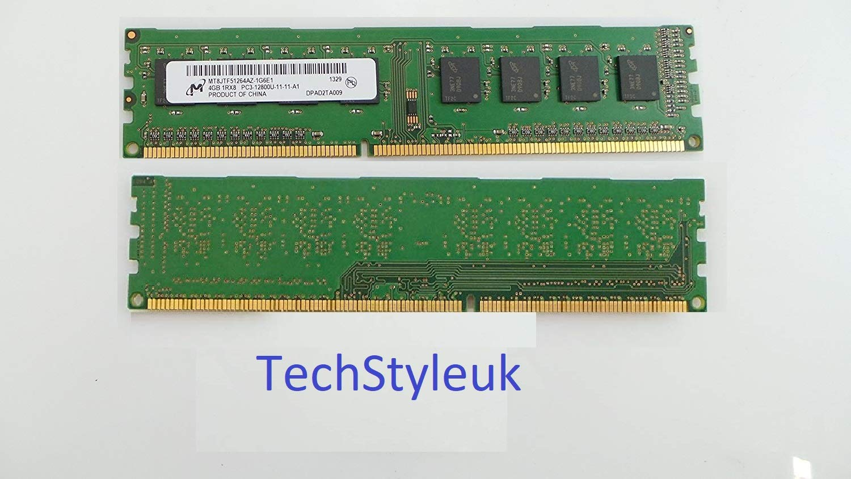 Memoria RAM 4GB Micron DDR3 1Rx8 PC3-12800U MT8JTF51264AZ-1G6E1