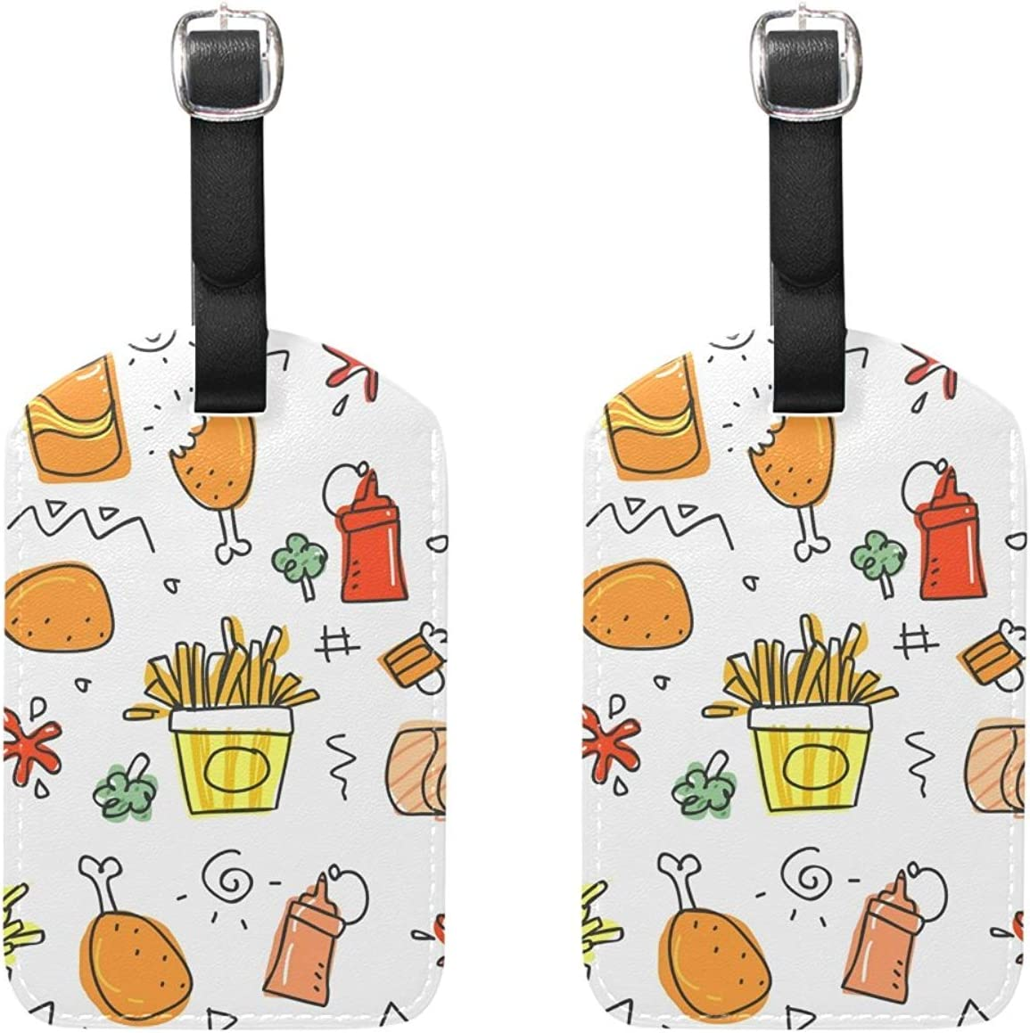 Set of 2 Luggage Tags Food Coke Chicken Leg Suitcase Labels Travel Accessories