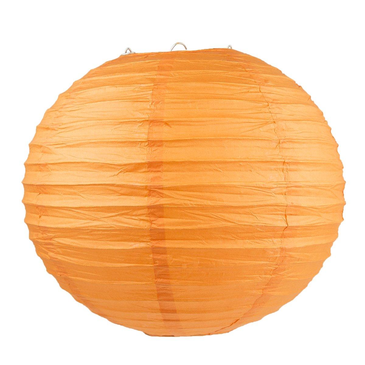 14 - with 8 Orange, 10 10 16 Option WYZworks Round Paper Lanterns 10 Pack 12