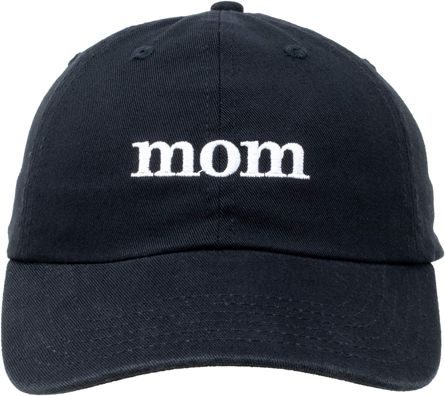 Mom Hat | Cute, Funny Fun Stitched Baseball Cap for Women Mothers Mommy Wife Mrs - Black: Clothing