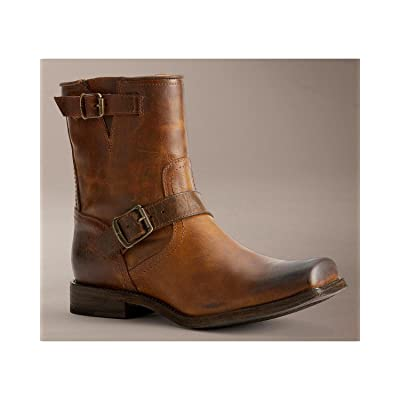 Frye Smith Engineer Tan Antique Pull Up 7.5: Shoes