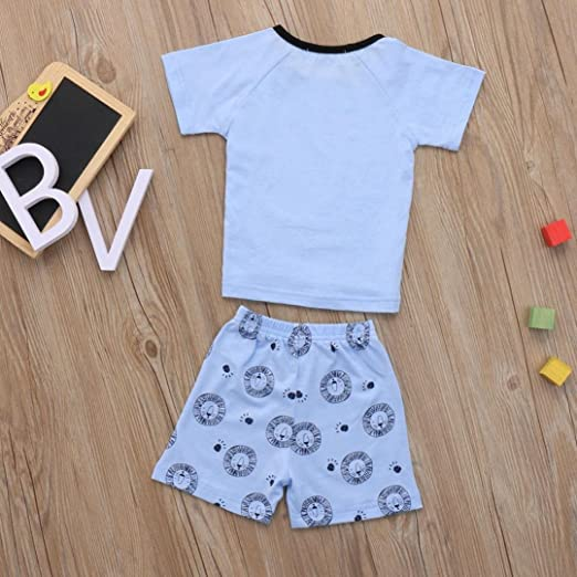 Pants Outfits Set for 6M-4T Jchen TM Newborn Infant Baby Boys Girls Cartoon Lion Casual Tops