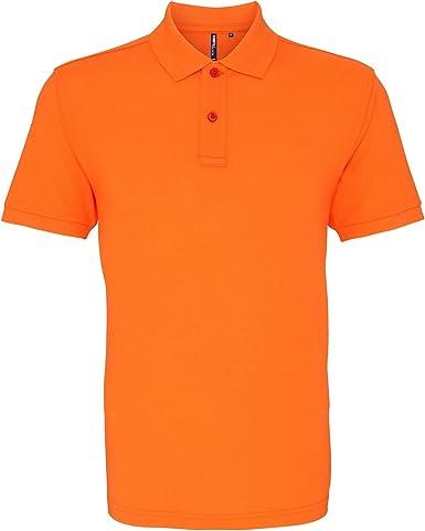 Asquith & Fox Asquith and Fox Mens Polo, Naranja (Neon Orange 000 ...