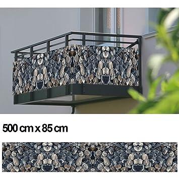 Balkon Sichtschutz Sichtschutz Dekor Balkon Dekor Motiv Steine