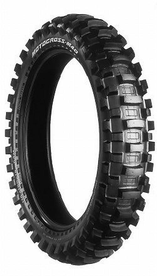 Bridgestone Rueda trasera Neumáticos Moto Cross M 40 negro talla 10 pulgadas