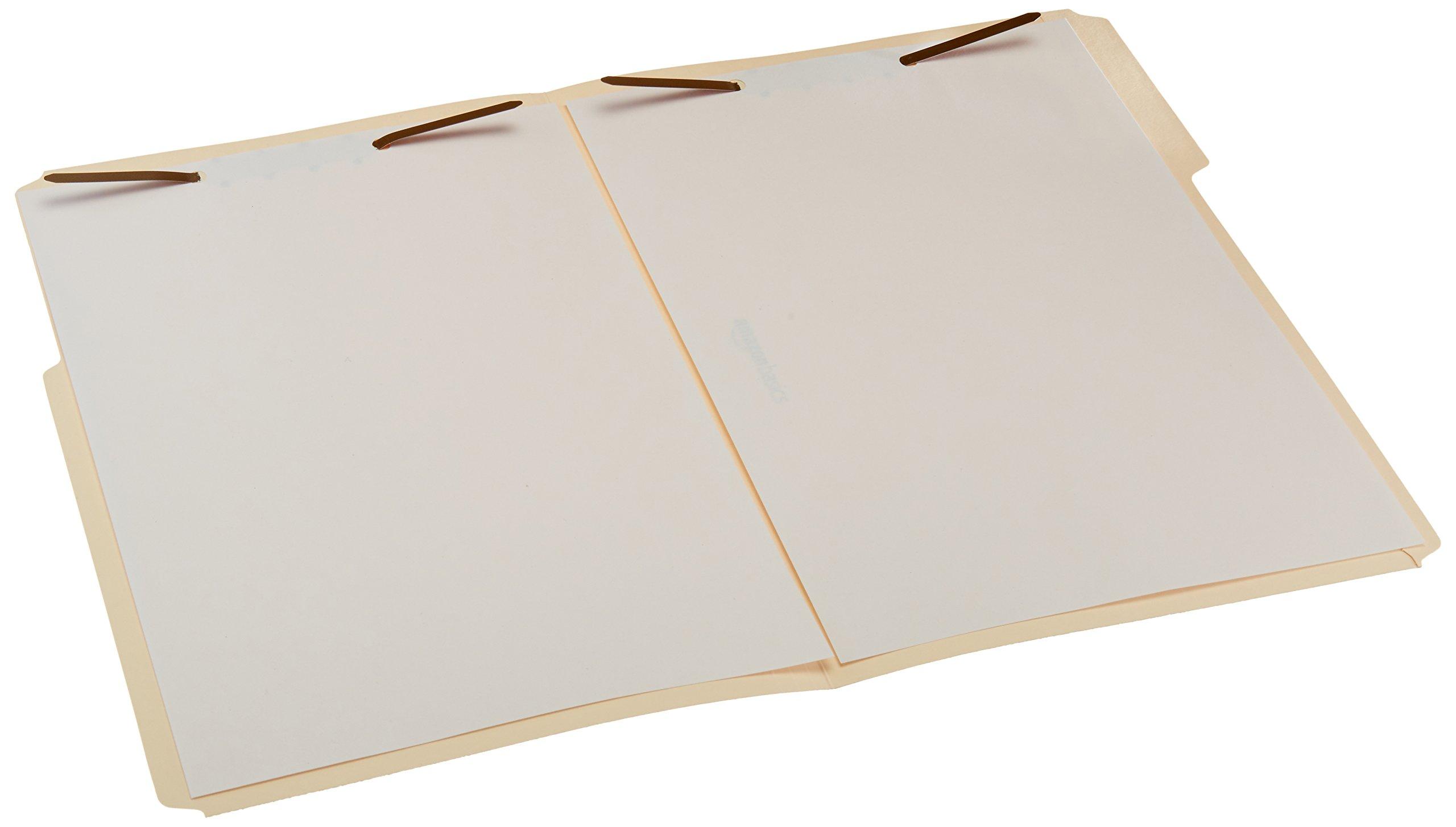 AmazonBasics Manila File Folders with Fasteners - Letter Size, 100-Pack by AmazonBasics (Image #1)