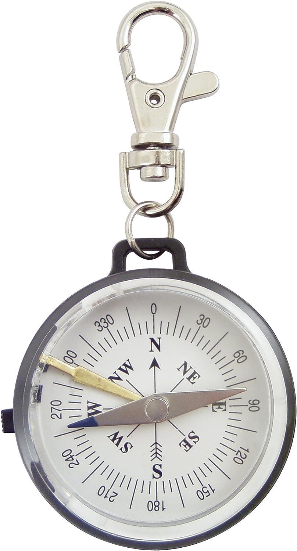 White and Black Plastic Swivel G/én/érique 1907 Compass with Needle Blocker 4.5 x 1 x 9 cm