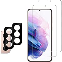 [4 Pack] Ferilinso 2 Pack Screen Protector for Samsung Galaxy S21 5G with 2 Pack Camera Lens Protector [100% Support…