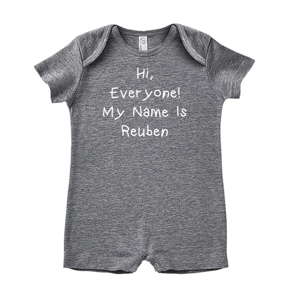 Mashed Clothing Hi Personalized Name Baby Romper Everyone My Name is Reuben