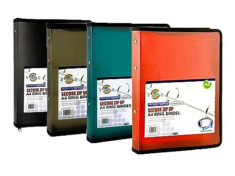 Premier Stationery H2924778 - Archivador de documentos (A4, con cremallera, 12 unidades)