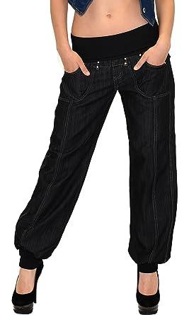 Stylische damen jeans pluderhose pumphose
