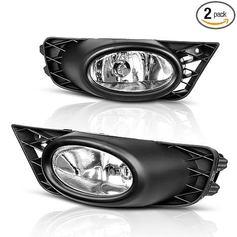 Fog Lights For Honda Civic Sedan 2009 2010 2011 (Real Gl Clear Lens on