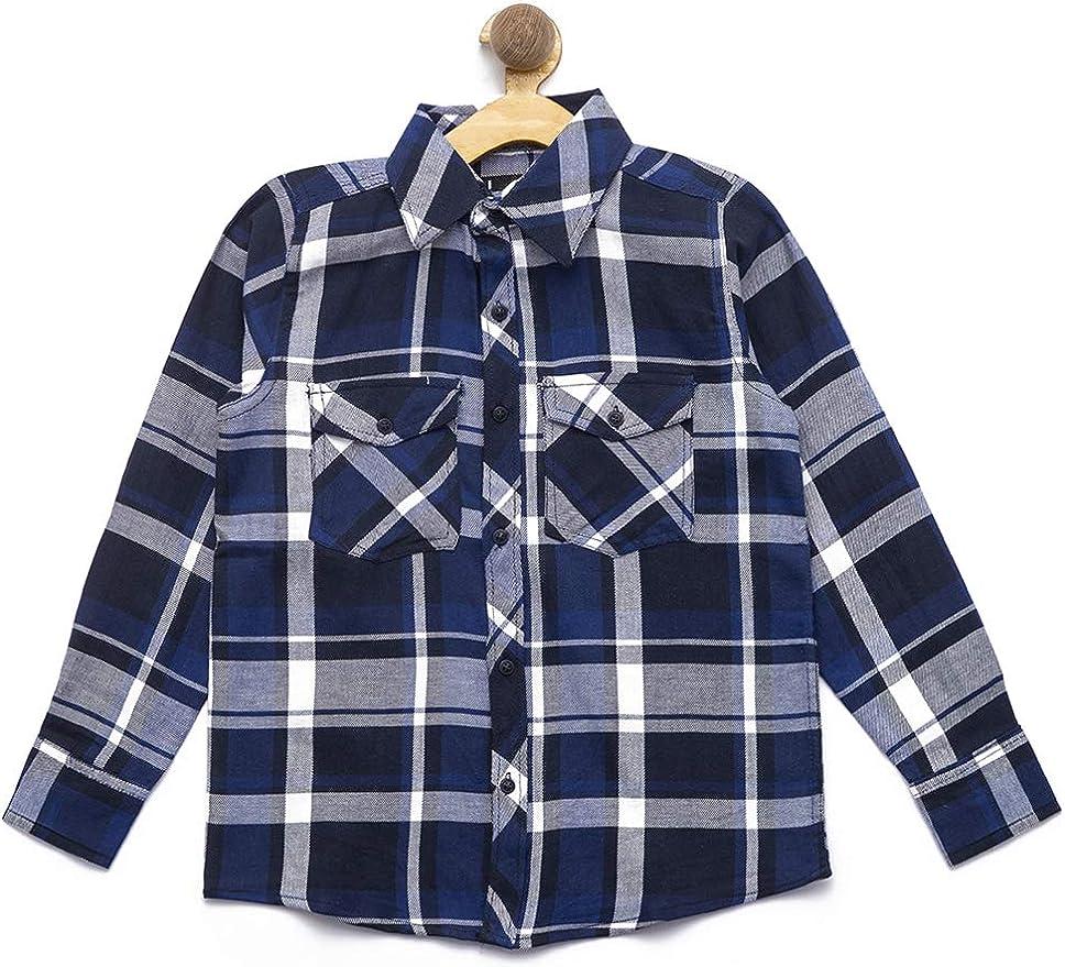 nick&jess Camisa de algodón de ajuste regular para niños de 3 a 12 años