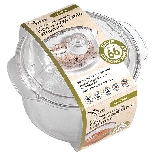 Eco-Chef - Recipiente para cocinar al vapor en microondas