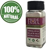 Pride Of India - Himalayan Black Rock Salt - Extra-Fine Grind, (4.0 oz, 113.4gm)- Kala Namak - Contains 84+ Minerals…