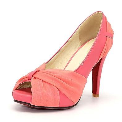 1928c014343be9 Daniig Size 34-43 Women S High Heel Shoes Peep Toe Sandals Dress Footwear  Ladies Wedding