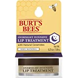 Burt's Bees 100% Natural Overnight Intensive Lip Treatment, Ultra-Conditioning Lip Care, 0.25 ounce