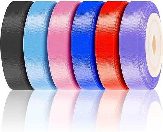 30 M nastro loop nastro raso 25 mm 2,5 cm Molti Colori Regali Matrimonio Decorazione
