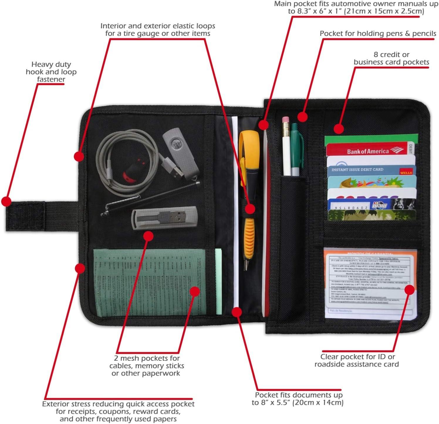 Car Registration Card and Insurance Holder Car Document Holder ...