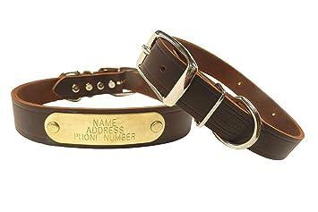 Amazon.com: Collar de cuero de Cumberland para perros marca ...
